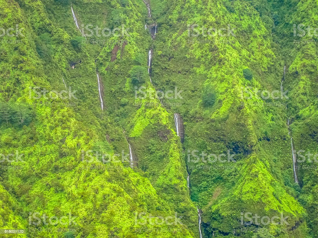 Waimea falls Kauai stock photo