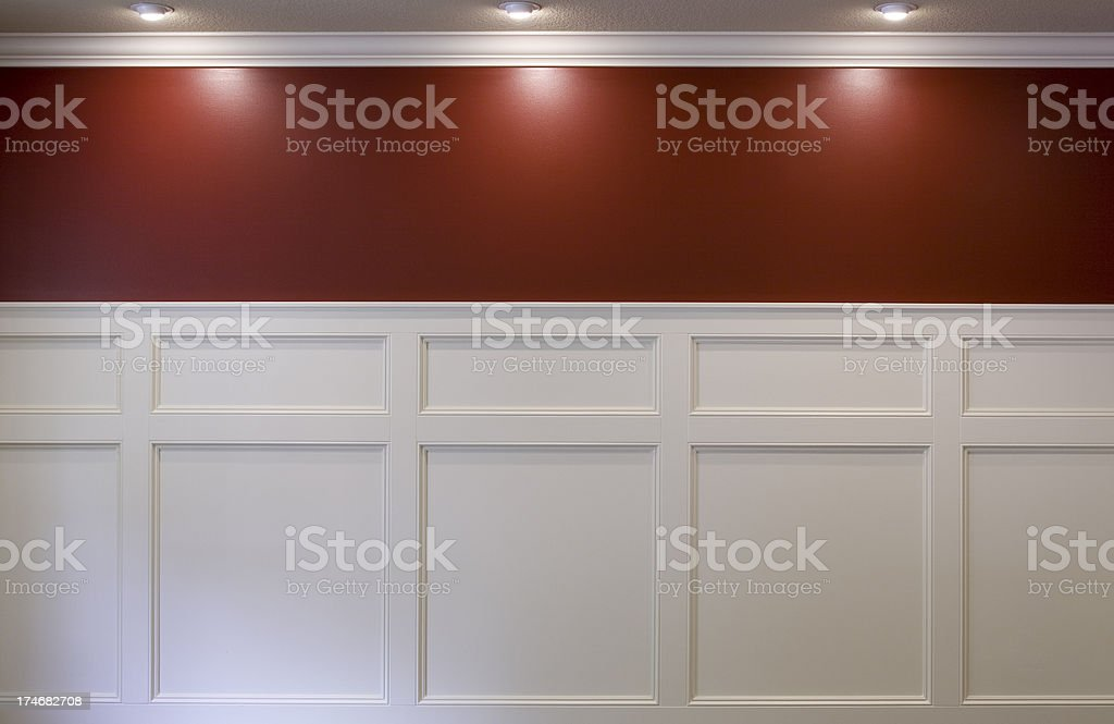 Wainscotting stock photo