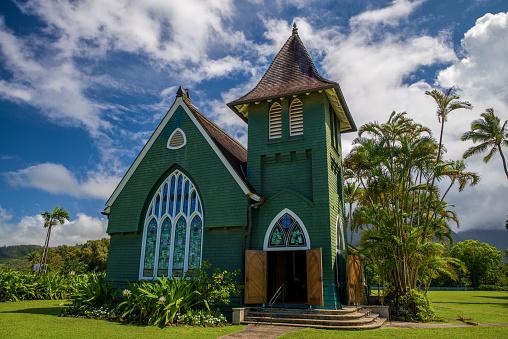 wai'oli hui'ia church, hawaii