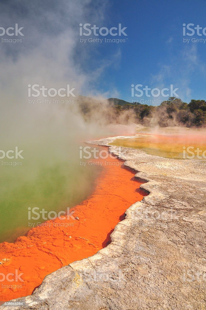 Wai-o-tapu stock photo