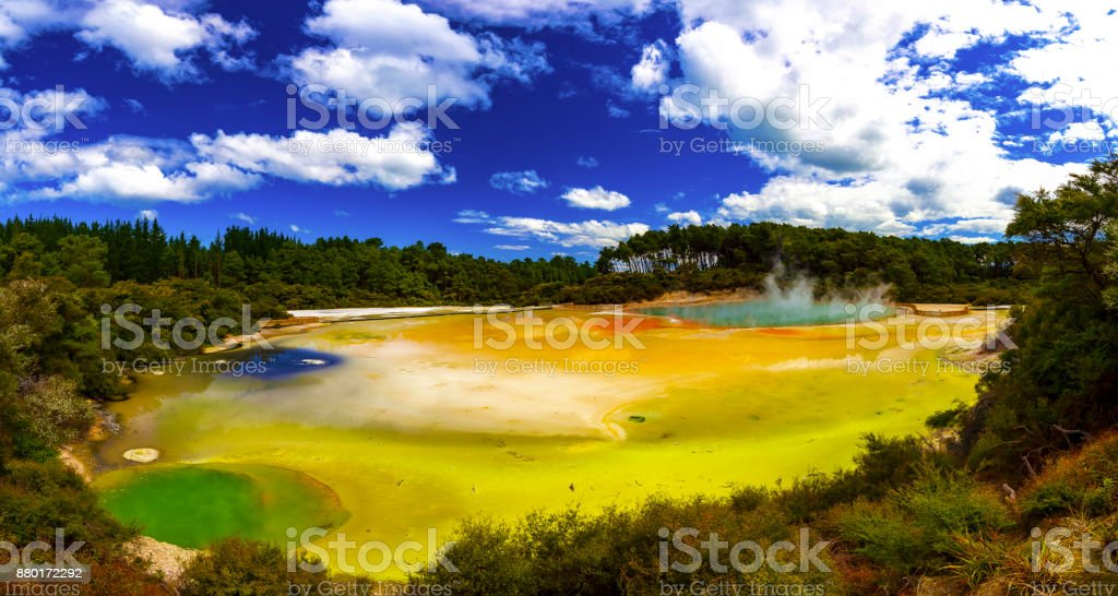 Waiotapu Thermal Park stock photo