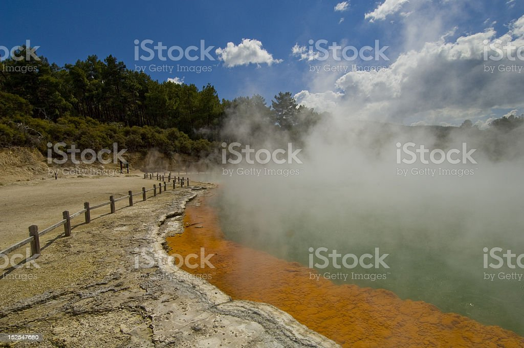 Wai-o-Tapu (Sacred Waters) Thermal Wonderland park. stock photo