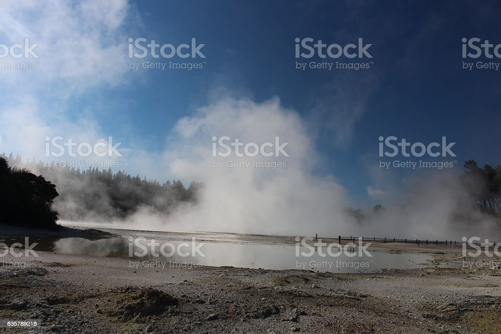 Wai-O-Tapu Thermal Wonderland stock photo