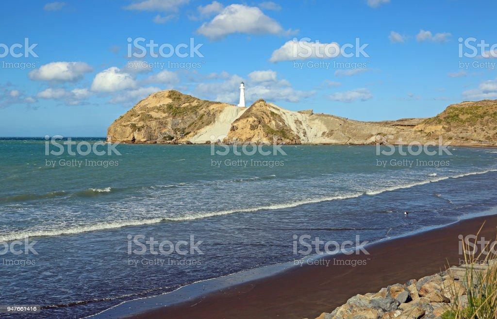 Wairarapa Bay with Castlepoint stock photo