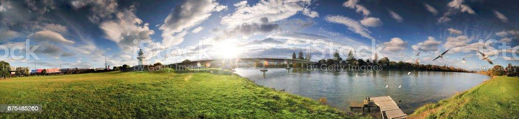 Wairoa 360 Panorama royalty-free stock photo