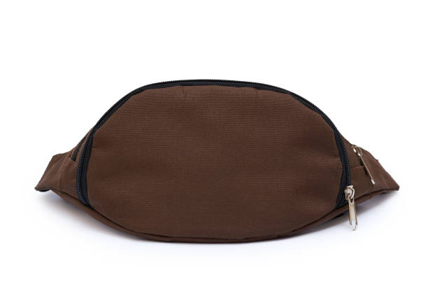 waist bag isolated on white background - waist bag stock photos and pictures