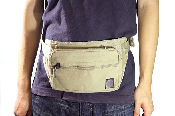 waist belt bag - waist bag stock photos and pictures