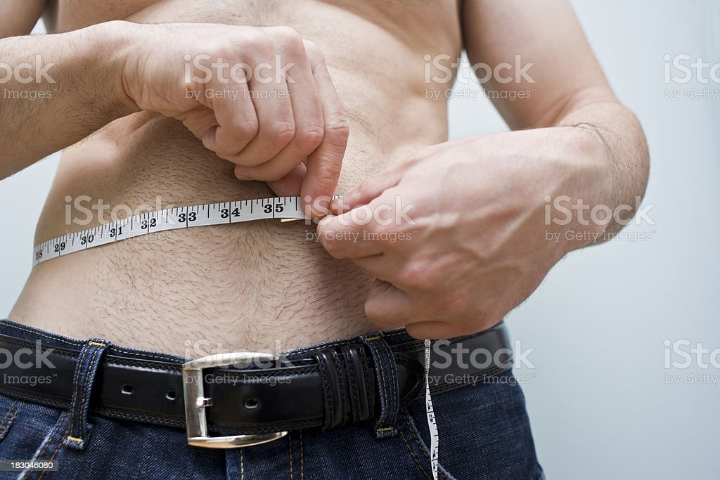 Waist Measurement royalty-free stock photo