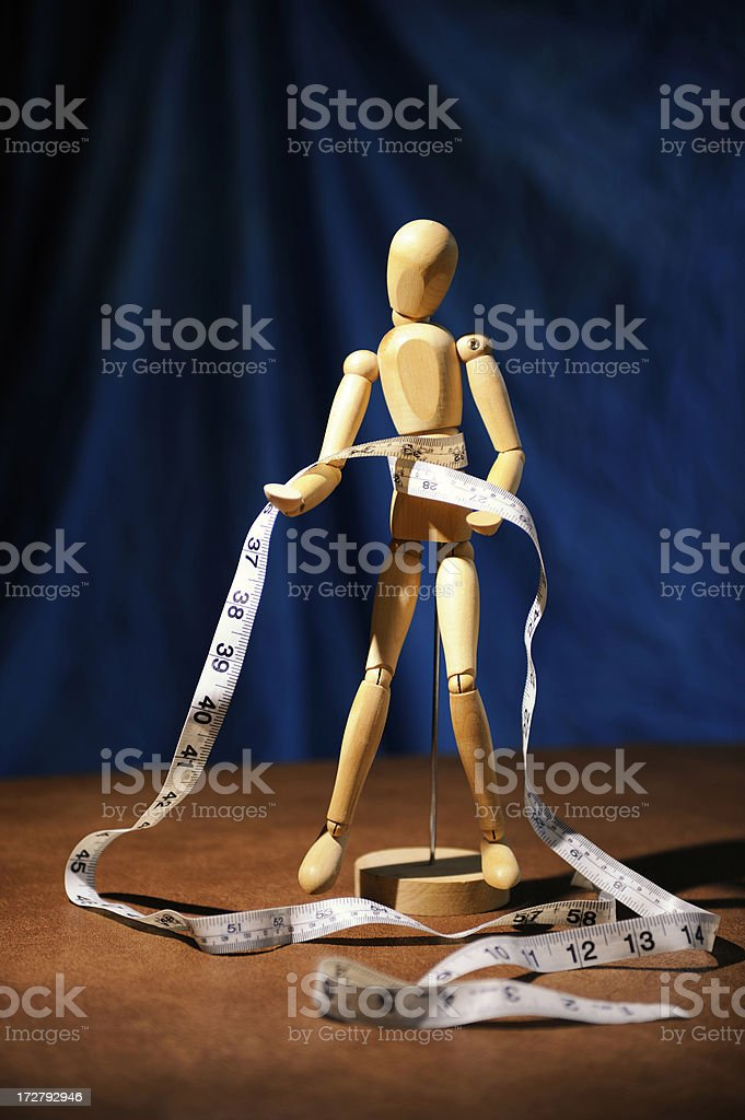 Waistline Measurement royalty-free stock photo