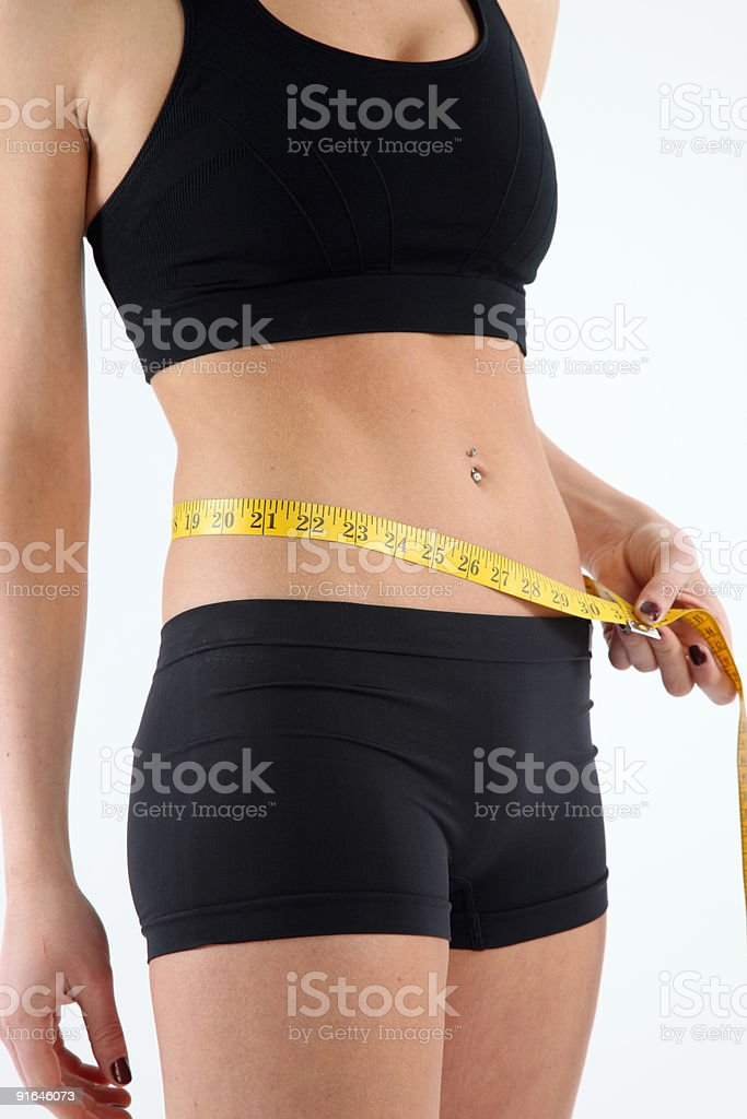 Waist-line royalty-free stock photo