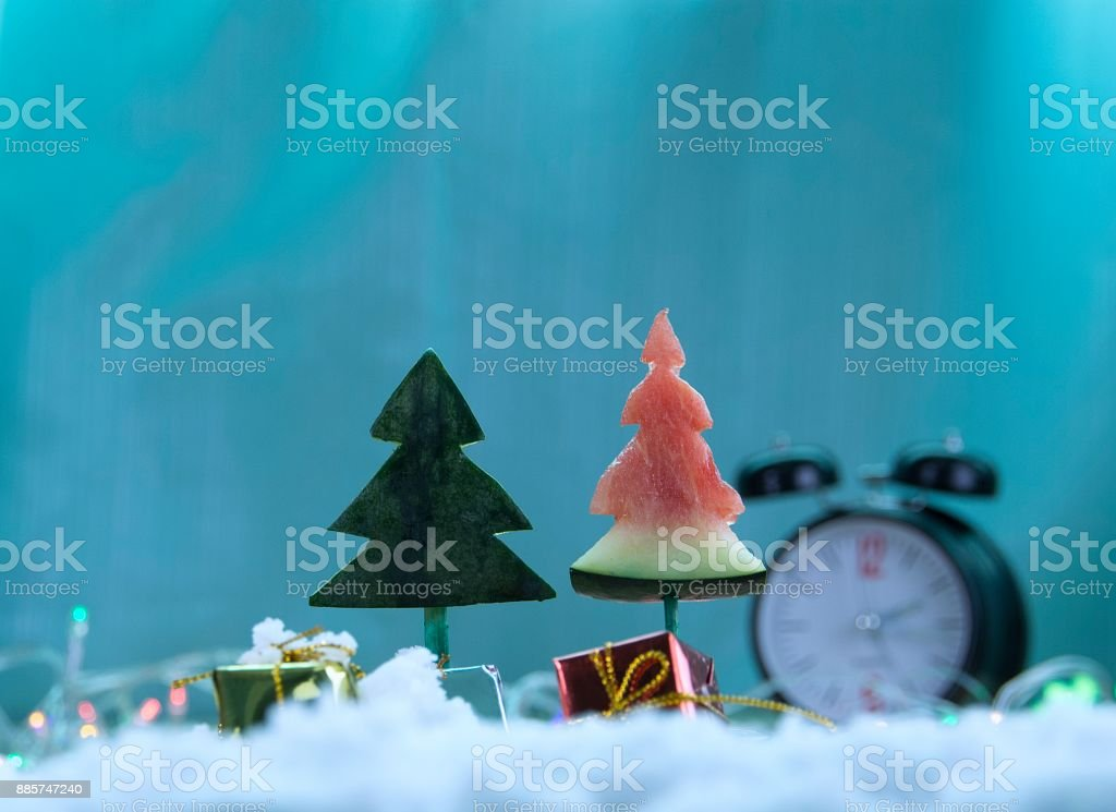 Wait a gift from Santa\'s uncle. stock photo