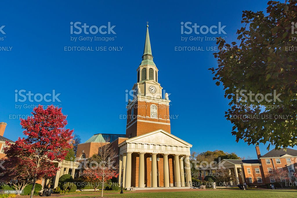 Wait Chapel at Wake Forest University stock photo