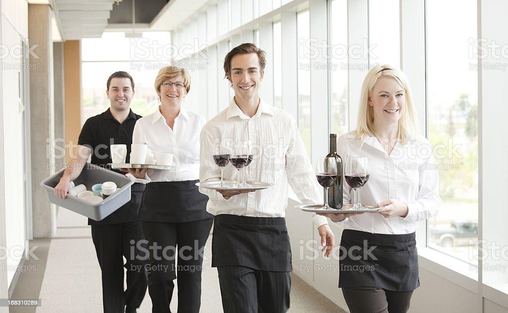 Wait Staff royalty-free stock photo