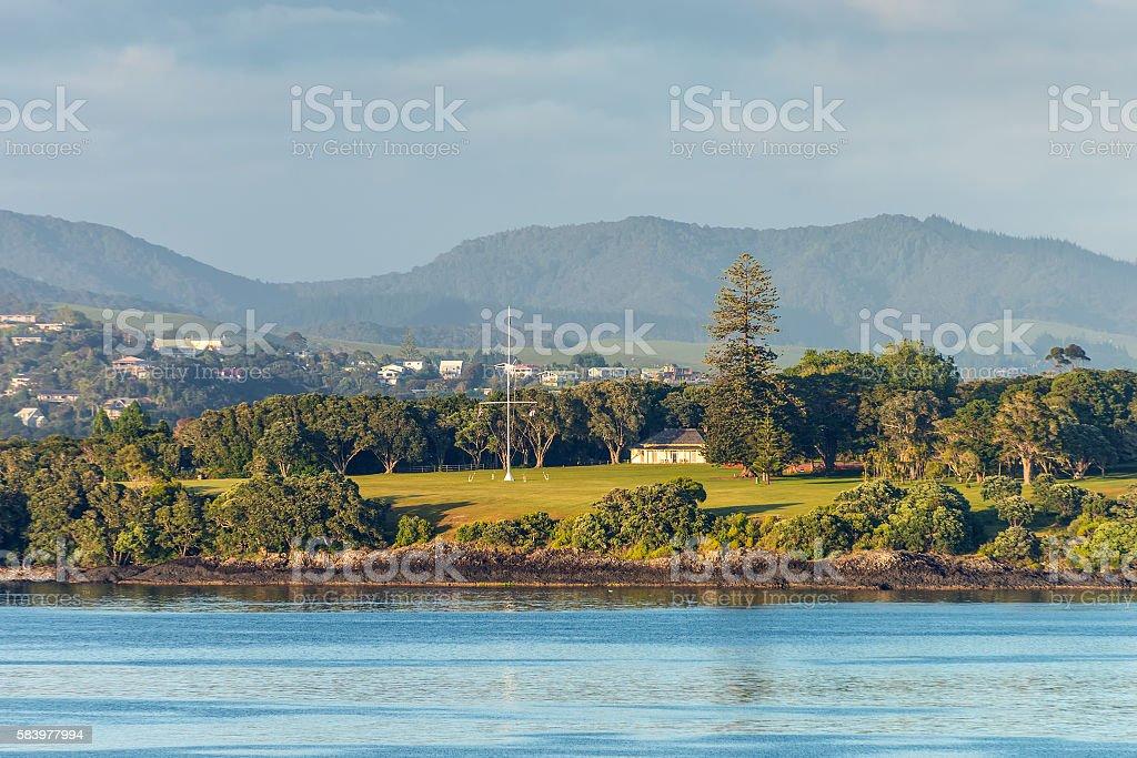 Waitangi treaty grounds in Paihia, Northland, New Zealand - foto stock
