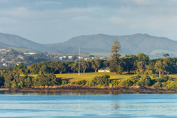 Waitangi treaty grounds in Paihia, Northland, New Zealand stock photo