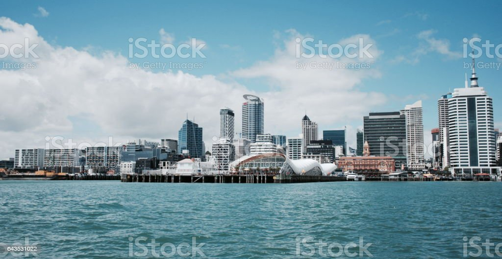 Waitemata Harbour Auckland Harbour View stock photo
