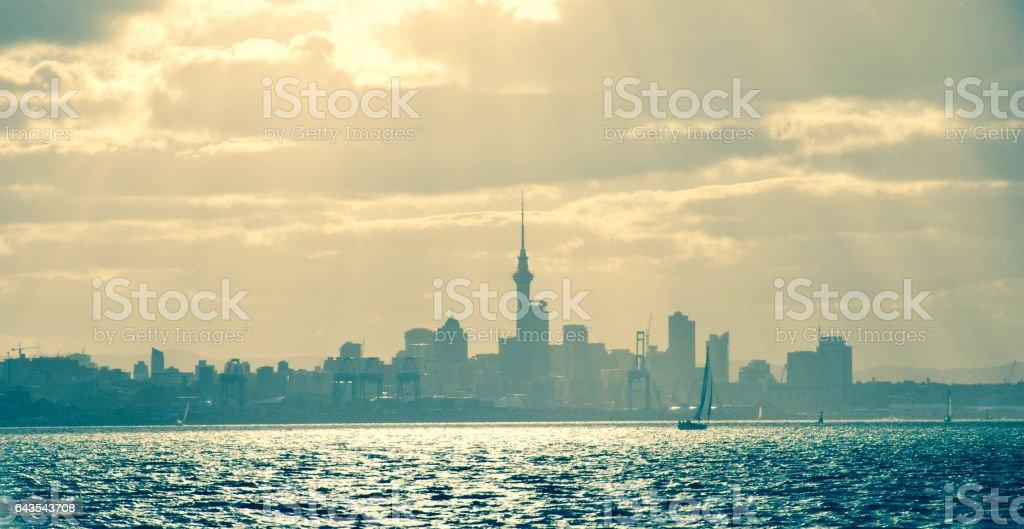 Waitemata Harbour Auckland Harbour View stock photo