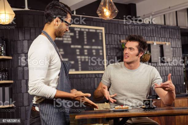 Waiter and customer having a discussion picture id674820814?b=1&k=6&m=674820814&s=612x612&h=jch5q3bjvnlijrhh6to9v7ze1lugmaynkual1izdhc8=