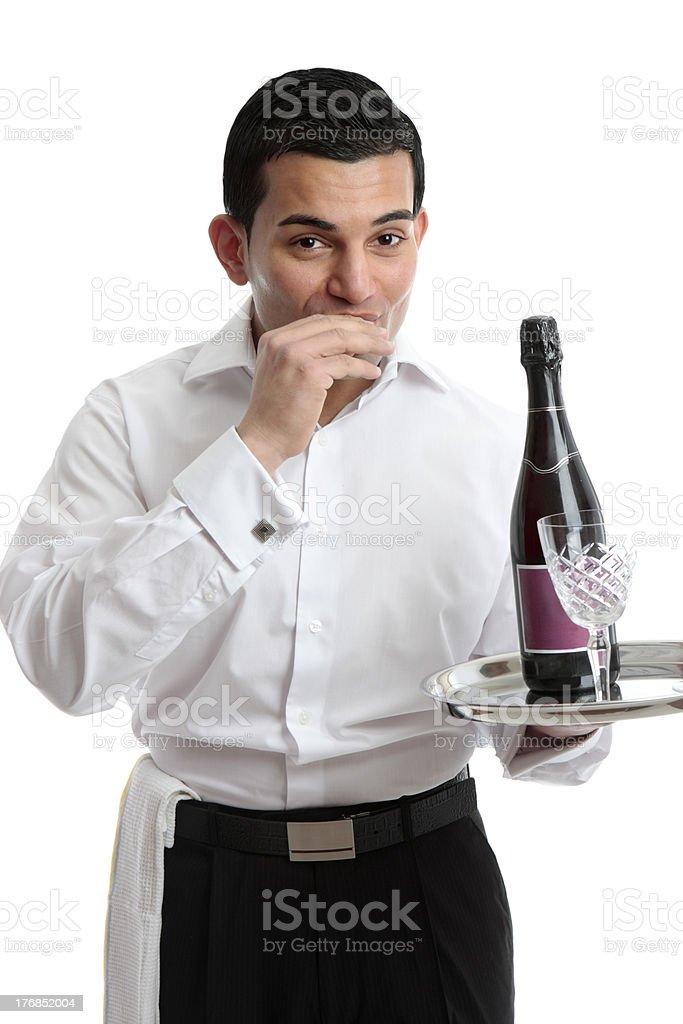 Waiter or Bartender royalty-free stock photo