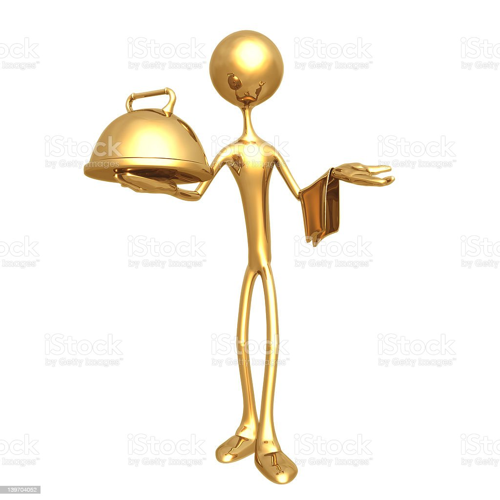 Waiter royalty-free stock photo