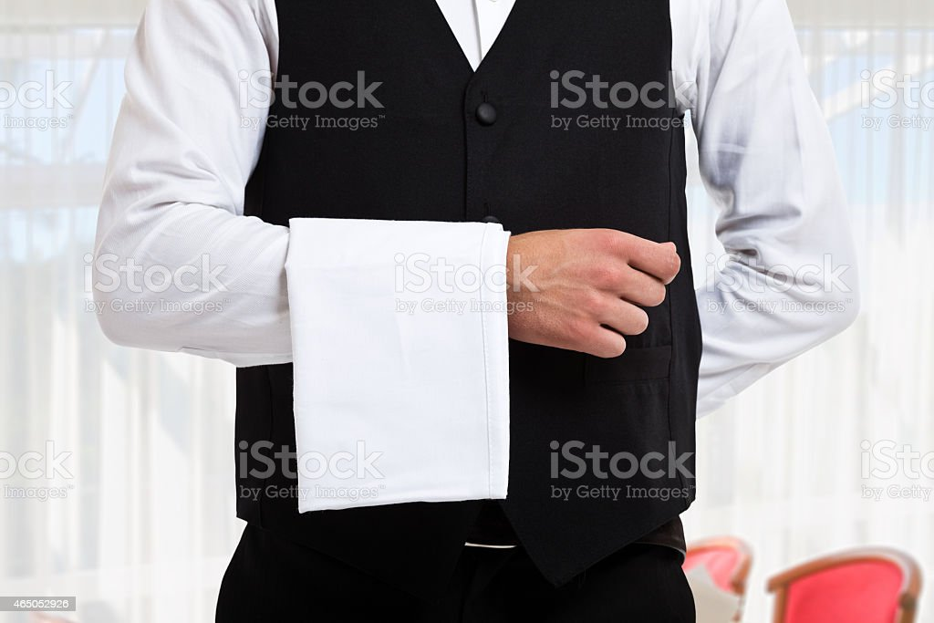 Waiter Portrait of a professional waiter 2015 Stock Photo