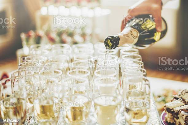 Waiter pouring champagne in stylish glasses at luxury wedding rich picture id961793564?b=1&k=6&m=961793564&s=612x612&h=am r0cc6ly7crvxft3 kh1zbzbofg1wfhe4kmz2 vma=