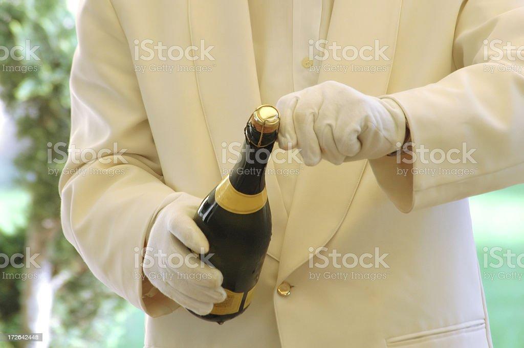 waiter serving stock photo