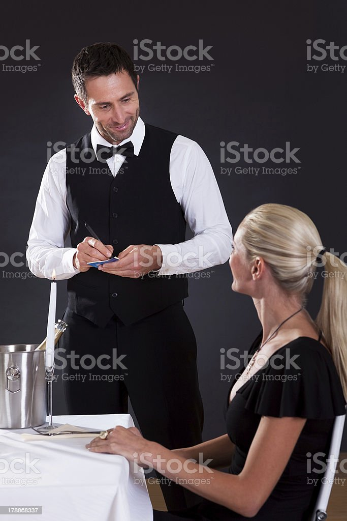 Waiter taking order royalty-free stock photo