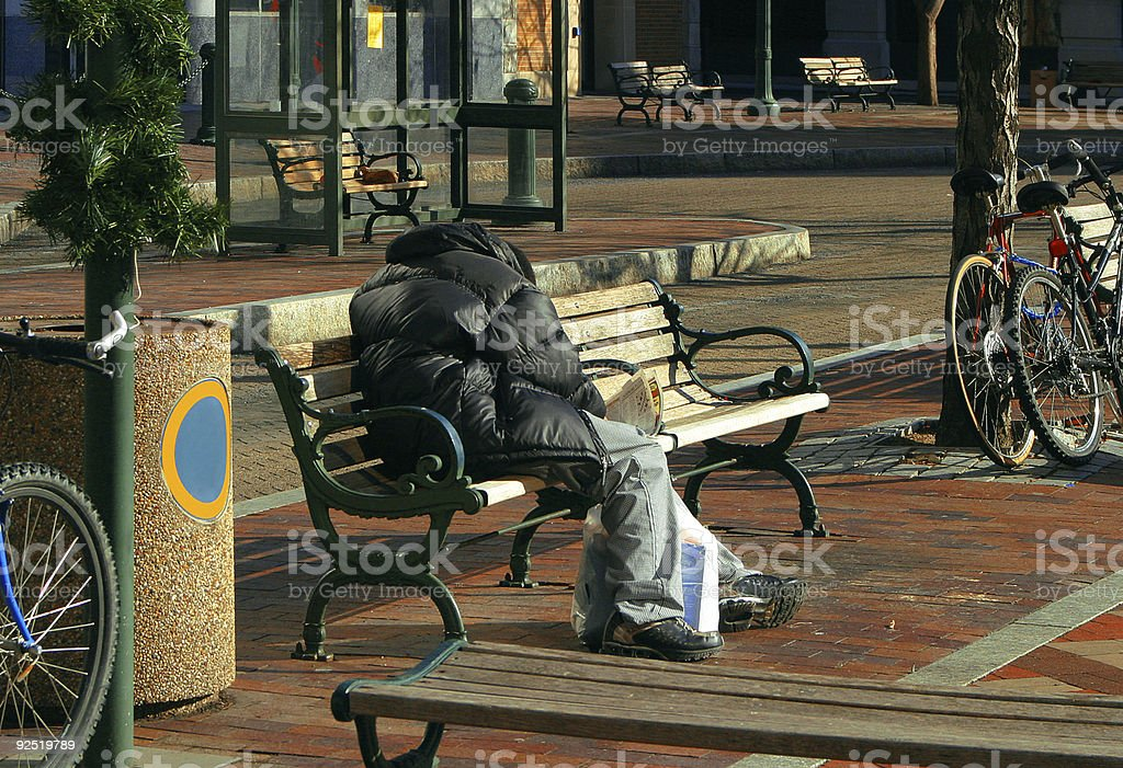 Waiting And Alone royalty-free stock photo