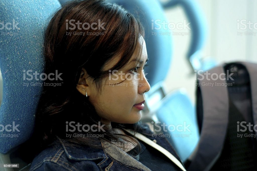 Waiting at airport royalty-free stock photo