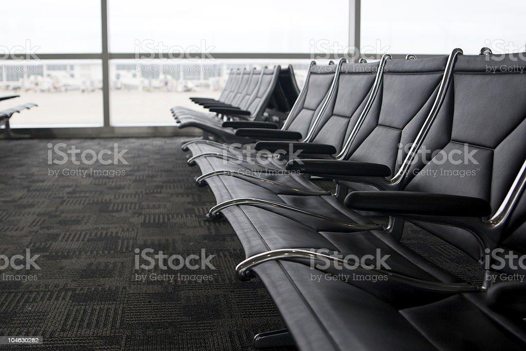 Waiting at the Airport royalty-free stock photo