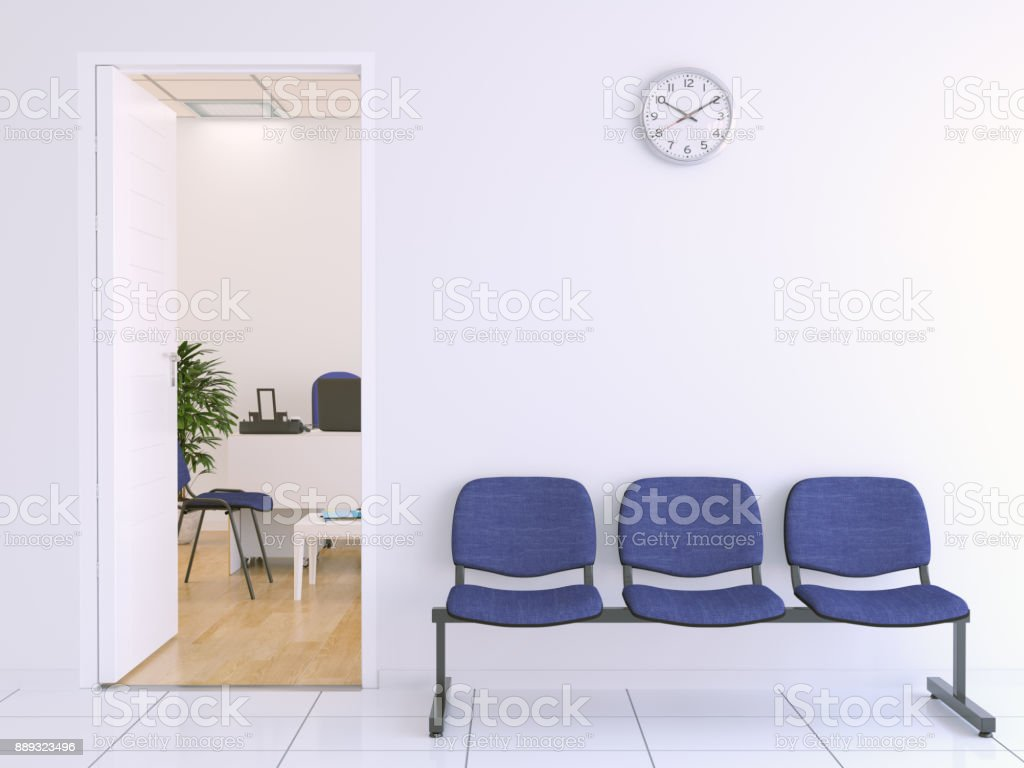 Waiting bench outside of office royalty-free stock photo