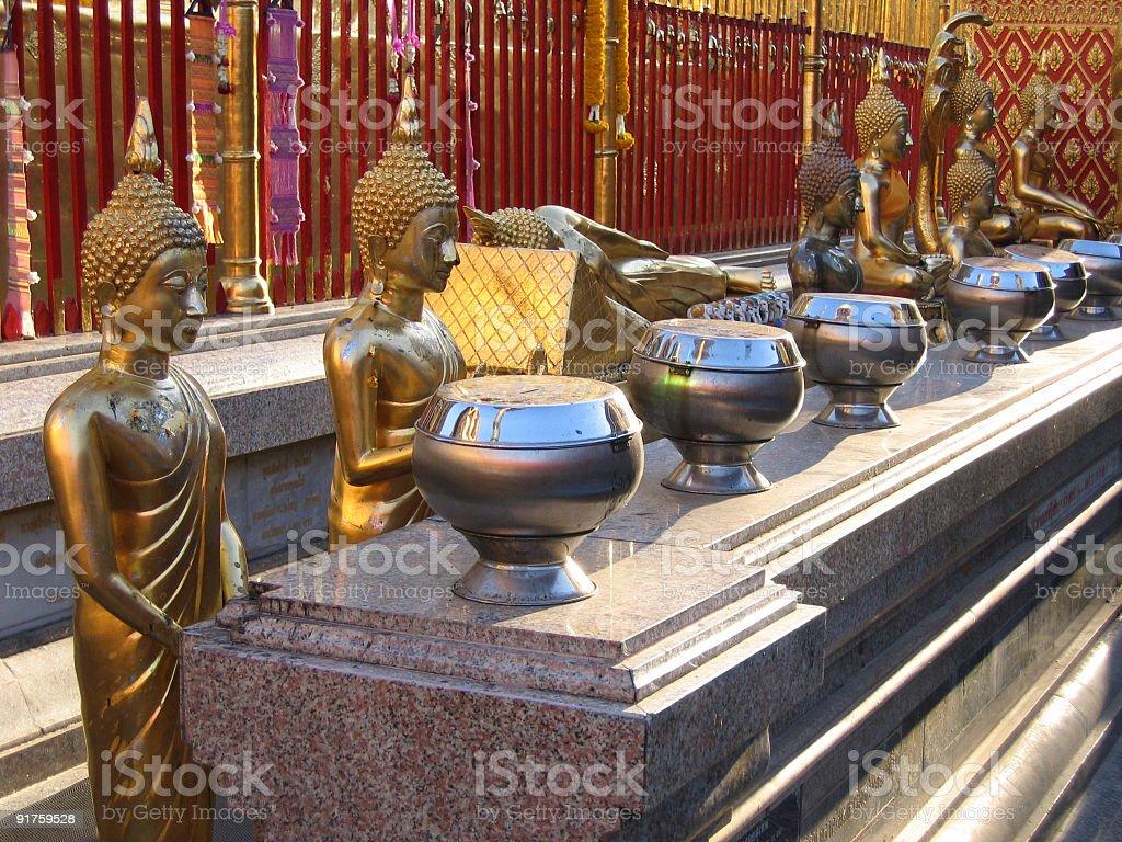 Waiting Buddhas stock photo