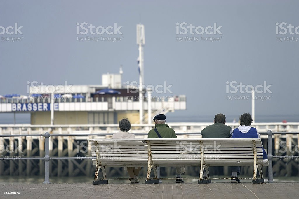 Waiting by the Sea royalty-free stock photo