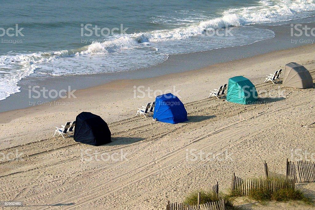 waiting cabanas royalty-free stock photo