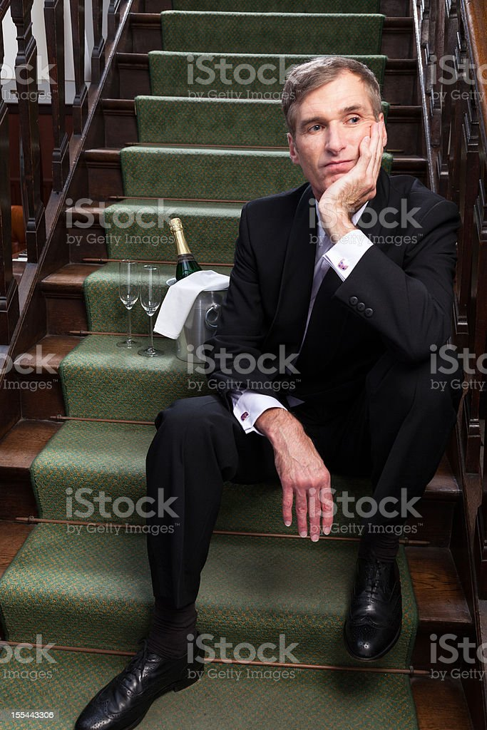 Waiting for a date stock photo