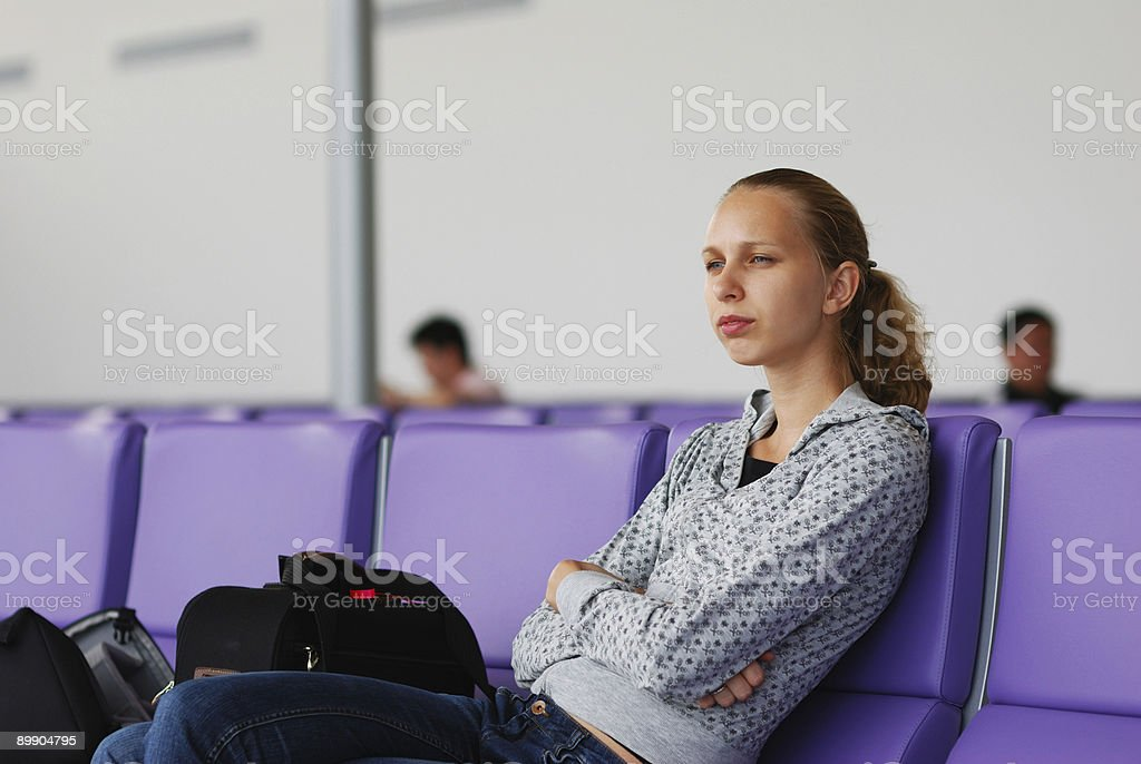 Waiting for a flight royalty-free stock photo