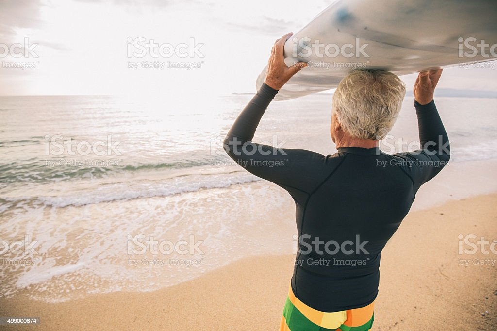 Waiting for a good wave stock photo