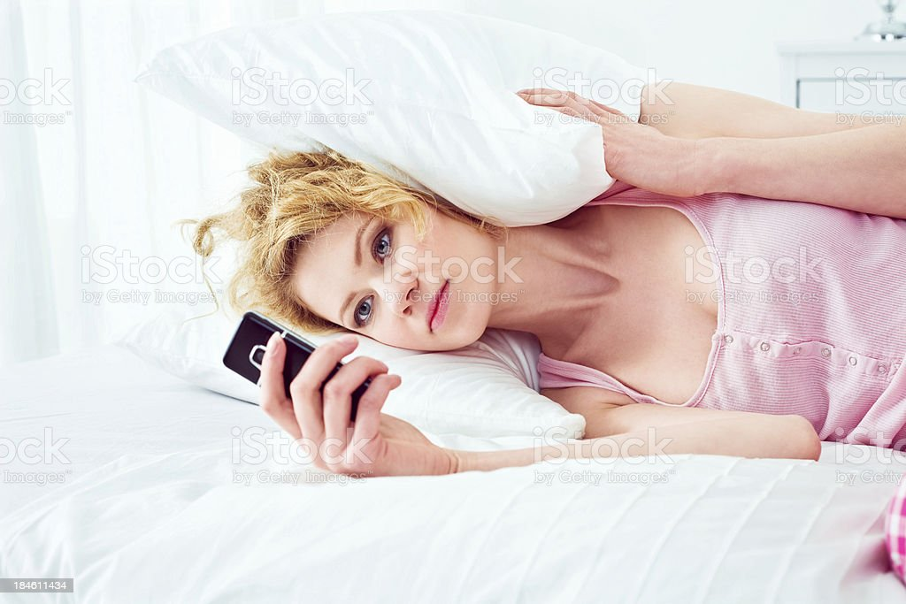 Waiting for a message royalty-free stock photo