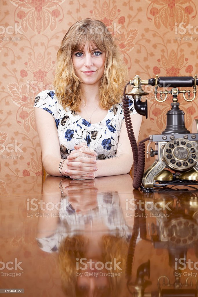 Waiting For A Phone Call royalty-free stock photo