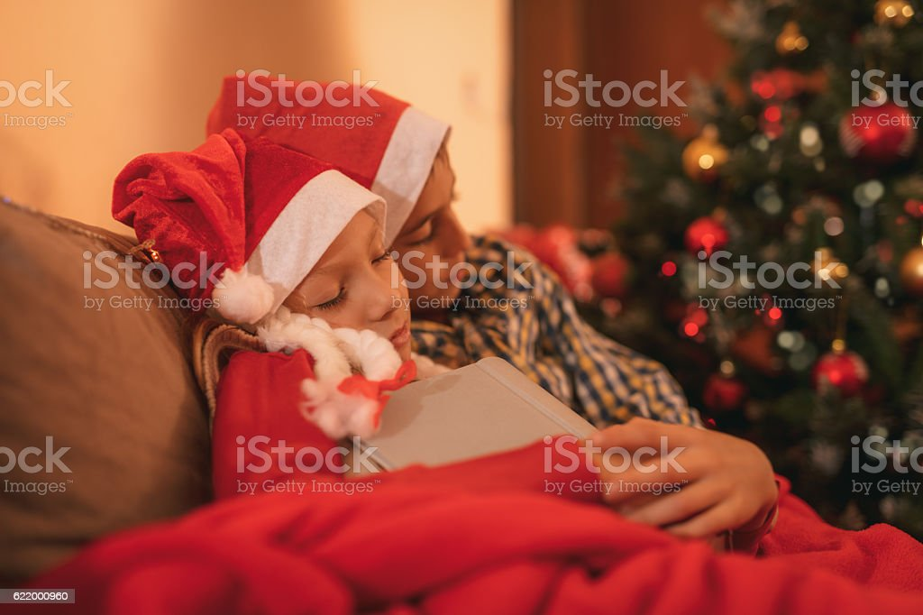 Waiting For A Santa Claus stock photo