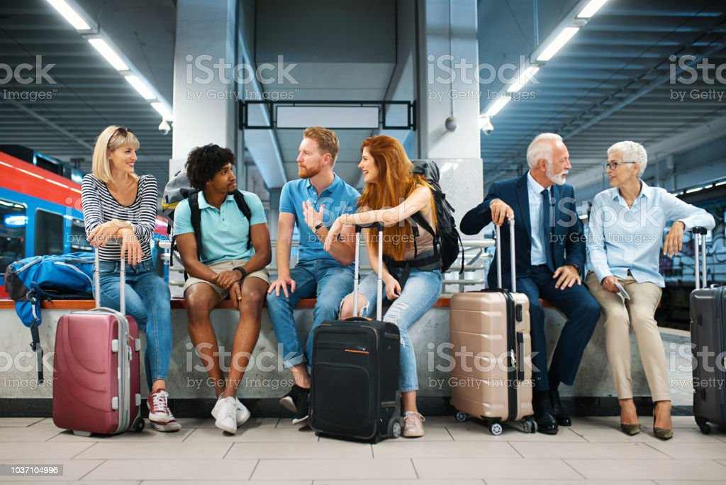 Waiting for a train. royalty-free stock photo