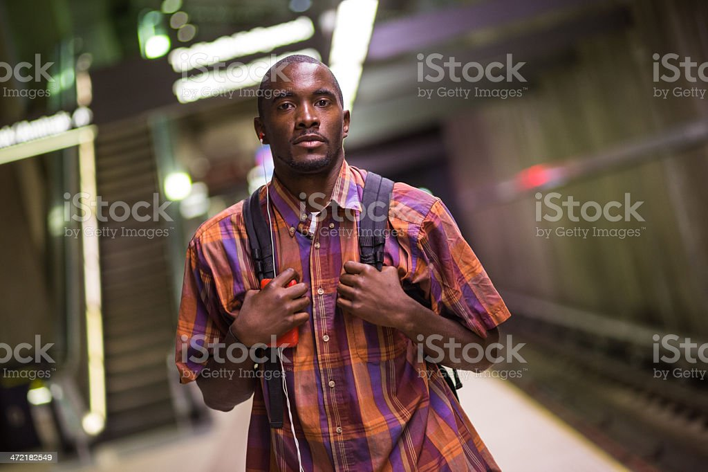Waiting for a Train royalty-free stock photo