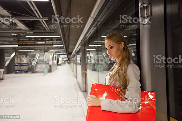 Waiting For A Train Stock Photo - Download Image Now