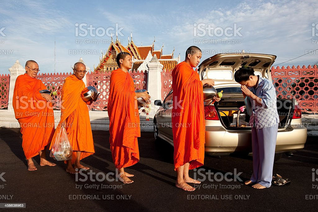 Waiting for alms. stock photo