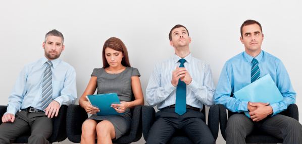 Waiting For An Interview Stock Photo - Download Image Now