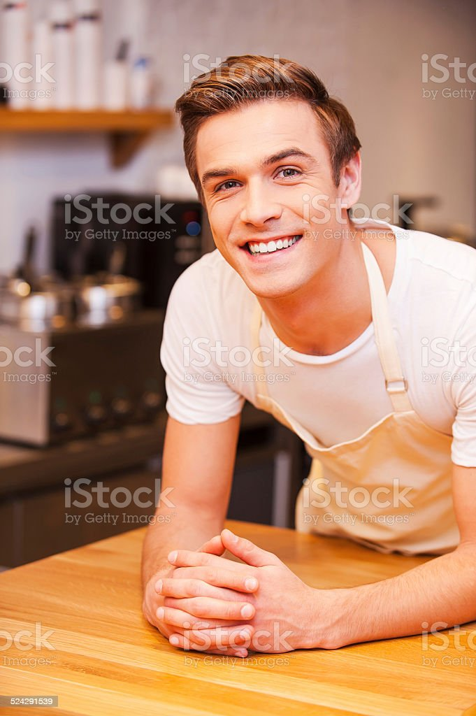 Waiting for customers. stock photo