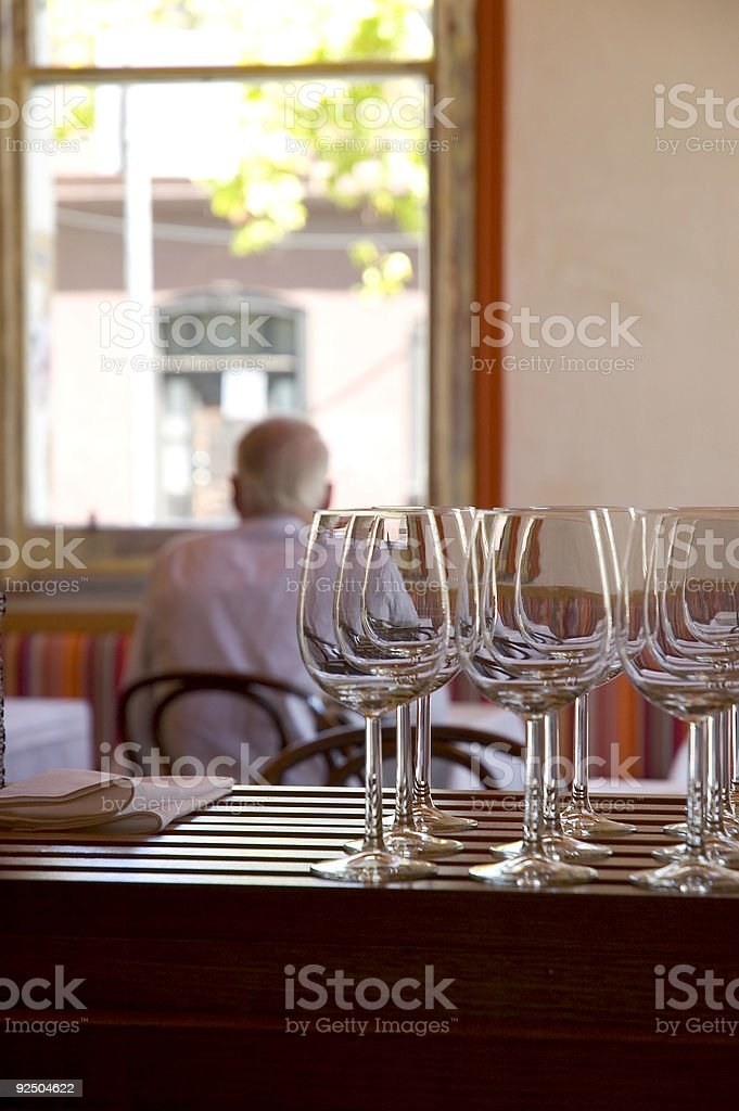 Waiting for drinks royalty-free stock photo