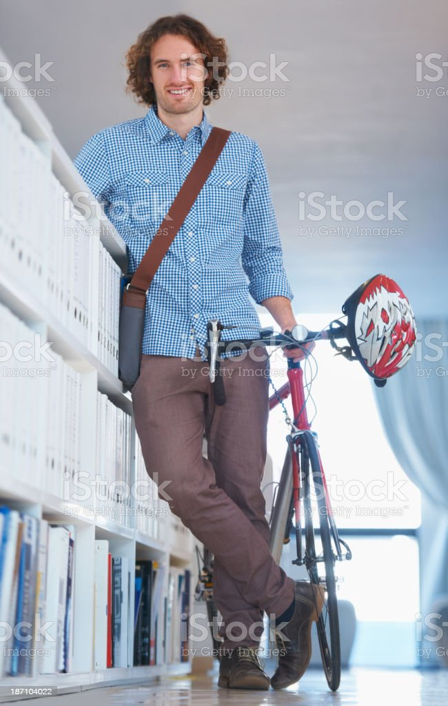 Waiting for his next task royalty-free stock photo