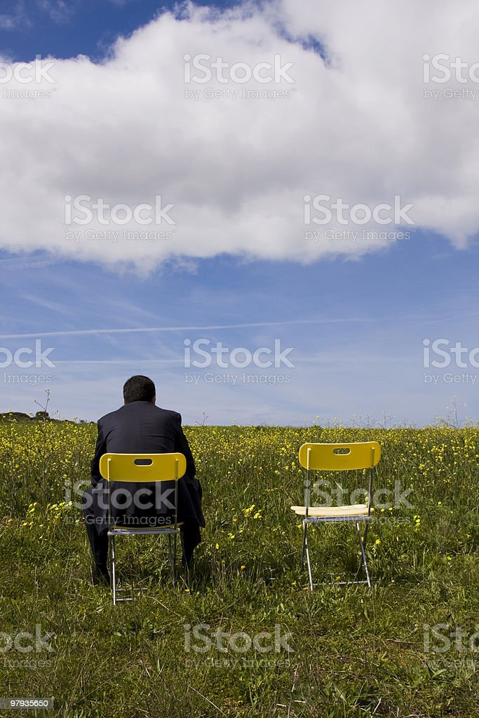 Waiting for his partner royalty-free stock photo